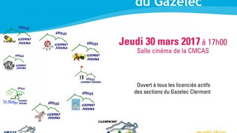 Assemblée Générale du Gazelec – Jeudi 30 Mars 2017.