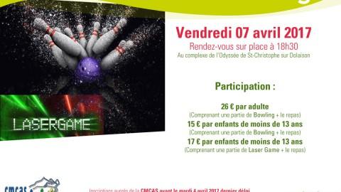 Vendredi 7 Avril – Soirée bowling – SLVie Le Puy – Langogne