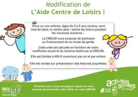 Modification de l'Aide Centre de Loisirs !