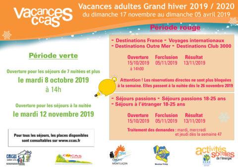 Vacances adultes grand hiver 2019/2020