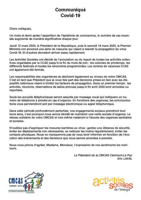 Communiqué_Coronavirus Covid-19