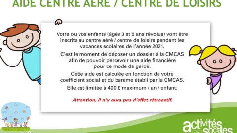 Aide Centre Aéré / Centre de Loisirs