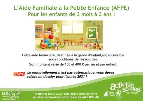 L'Aide Familiale à la Petite Enfance (AFPE)